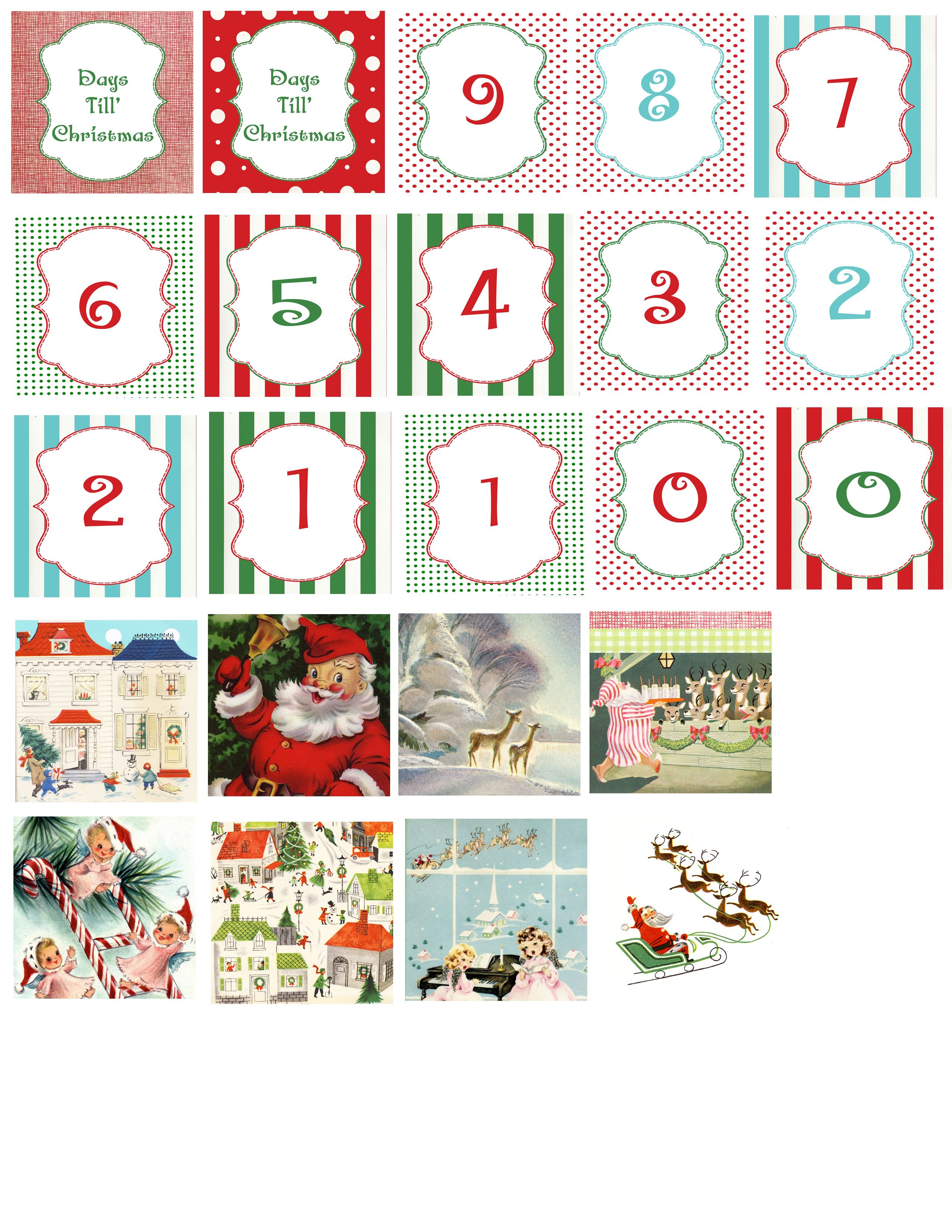 This blog has a great printable that is used for making Christmas count down blocks