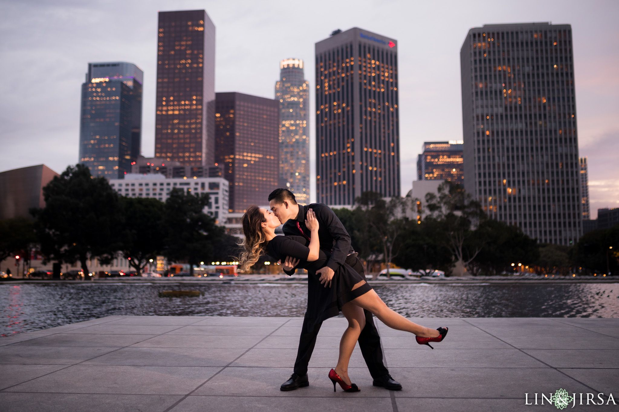 Downtown Los Angeles Engagement Amy u0026
