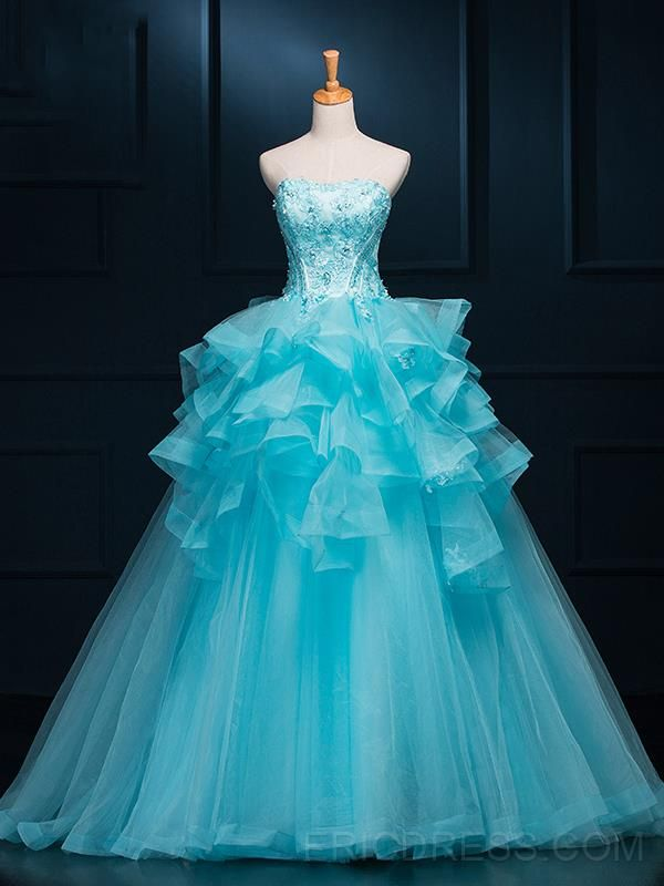 ad8913b911 ericdress.com offers high quality Ericdress Strapless Ruffles Appliques  Ball Gown Quinceanera Dress Quinceanera Dresses unit price of   151.35.
