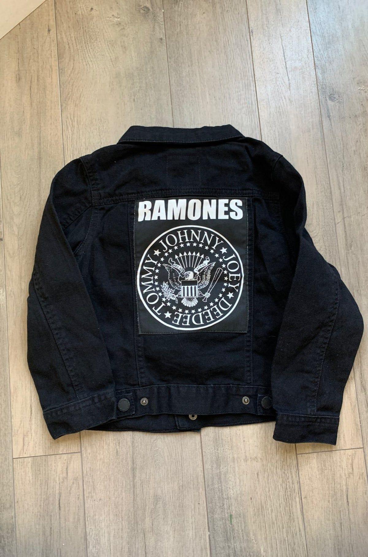 Cotton On Kids Ramones Denim Jacket On Mercari Jackets Denim Jacket Black Denim Jacket [ 1815 x 1200 Pixel ]