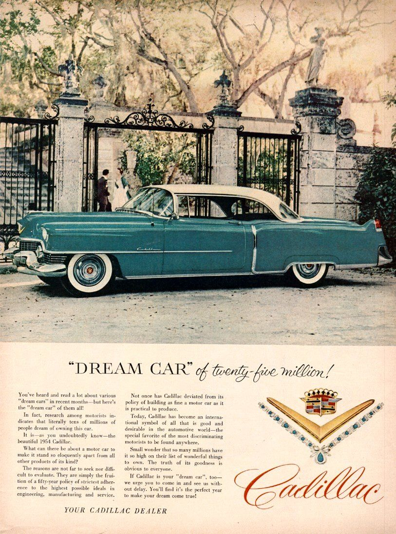 1954 Cadillac Ad 02 Pinterest Coupe Deville