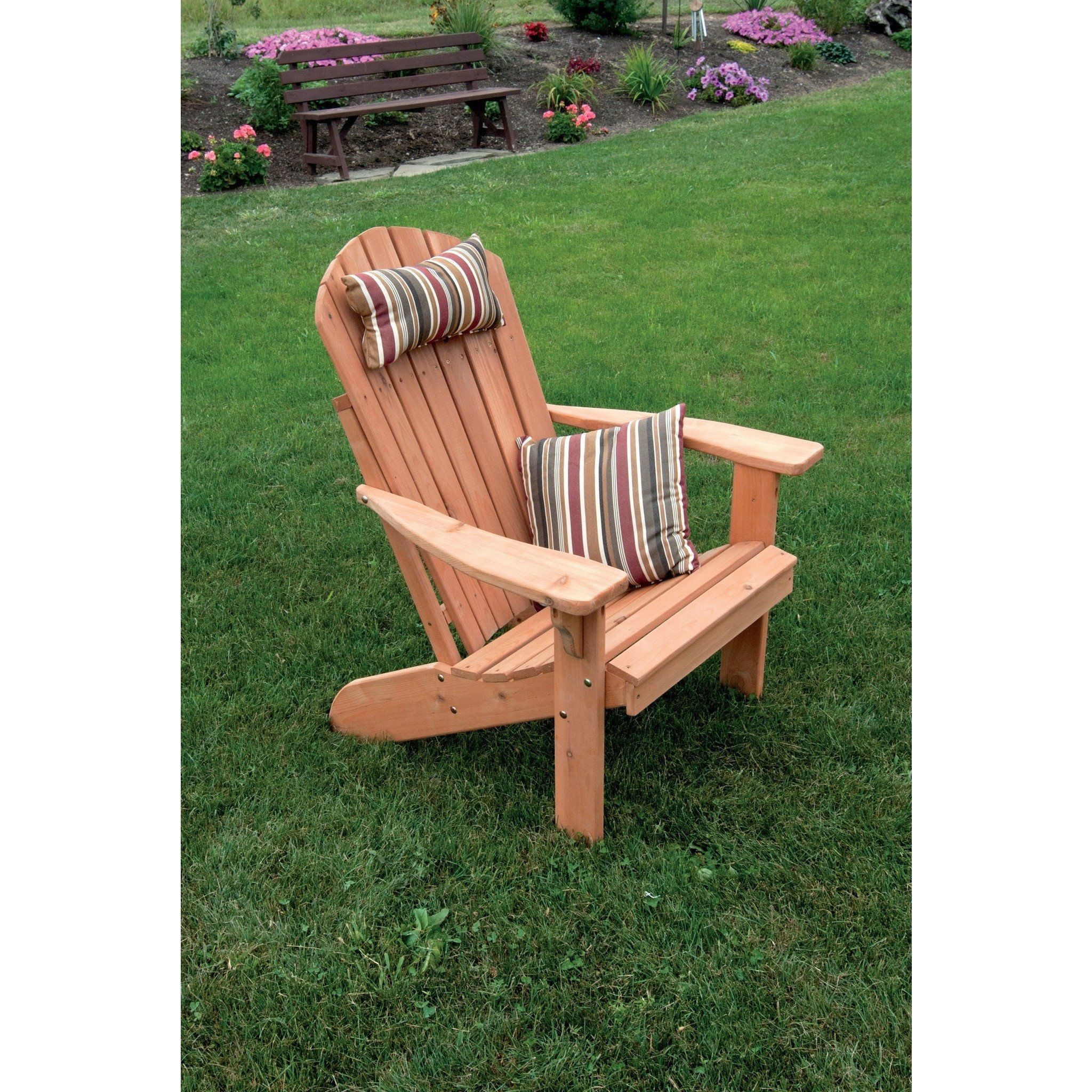 A L Furniture Co Western Red Cedar Fanback Adirondack Chair Ships Free In 5 7 Business Days Outdoor Chairs Adirondack Chairs Rustic Furniture