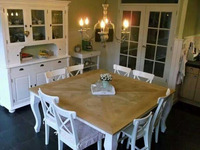 Vierkante tafel 8 personen  terras  Dining Table Table
