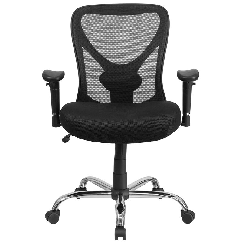 Big tall office chair adjustable height mesh swivel