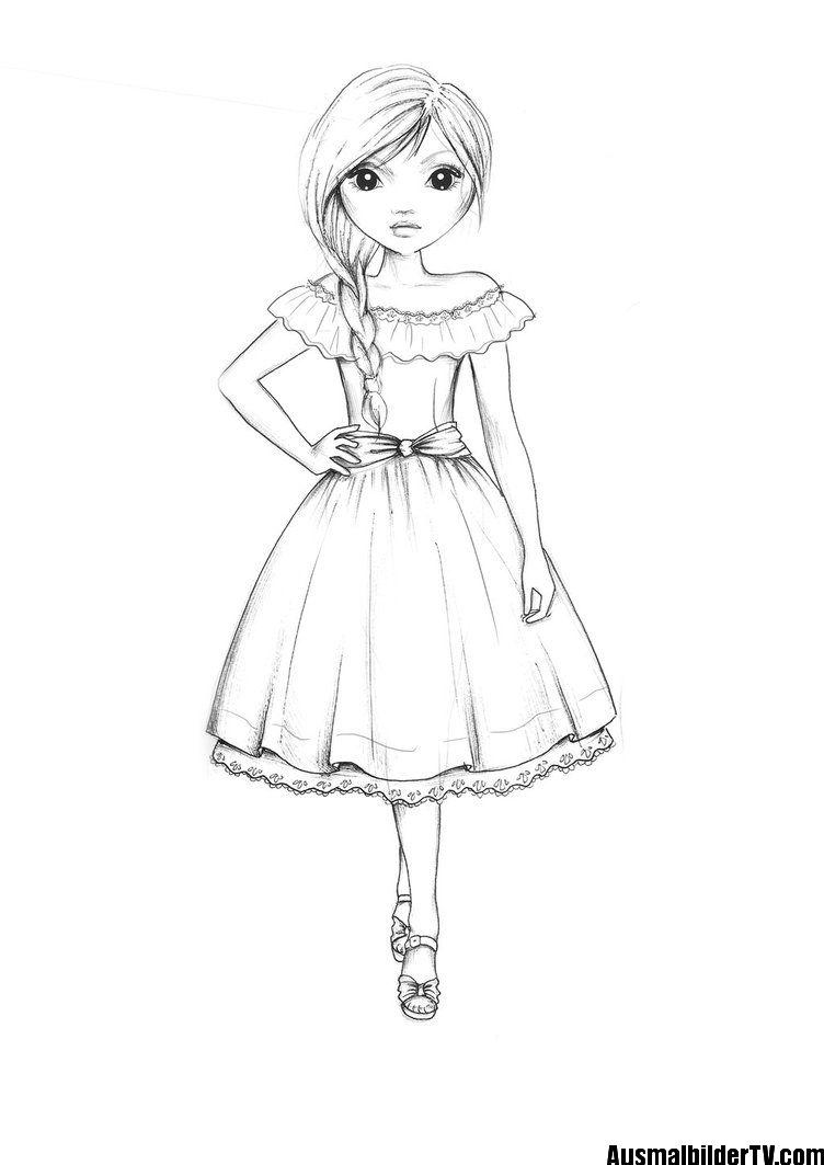 topmodel ausmalbilder  dibujos de chicas kawaii lectura
