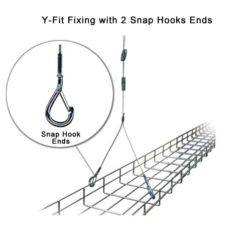 Pro-Hanger Tray System, Y-Fit Fixing with 2 Snaps Hooks