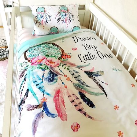 Cot Quilt Dream Catcher Cotton Nursery Linen Baby