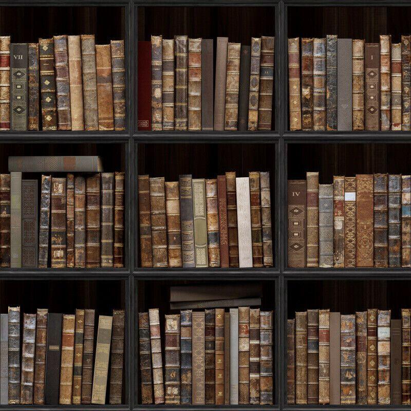 CdHBH 5x7ft Vintage Interior Bookshelf Background Vintage Bookshelf Library Books Photo Studio Studio Photo Photography Props Holiday Venue Party Layout Wallpaper Home Decoration