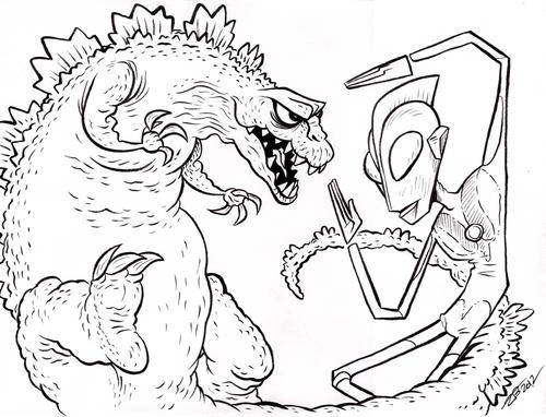 Godzilla vs. Ultraman. Who would win? | Godzilla vs | Pinterest ...