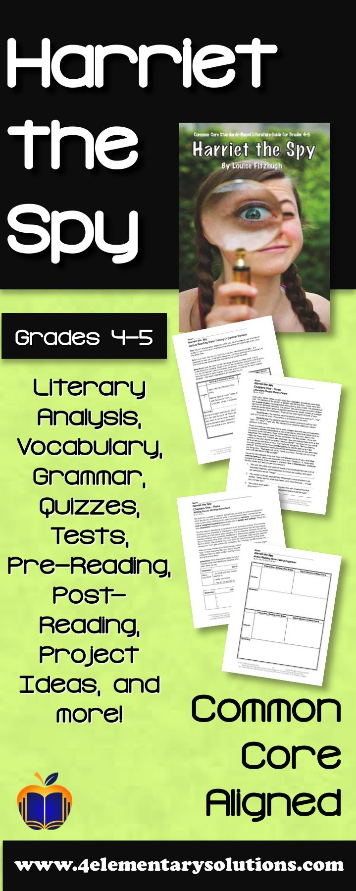harriet the spy activities lessons resources and more common rh pinterest com harriet the spy study guide Harriet The Spy Blog Wars