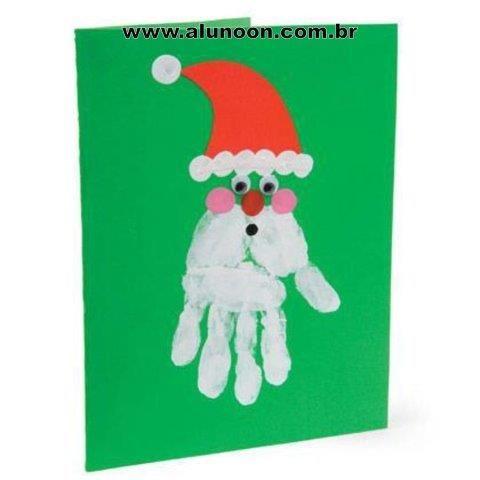 250 Atividades De Natal Educação Infantil Aluno On Cartões De Natal Caseiros Pintura Com As Mãos Natal Da Criança