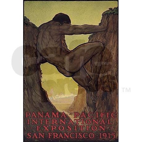 e51df1b47 Panama Pacific Expo Atlas Man Rectangle Magnet | vintage poster art ...