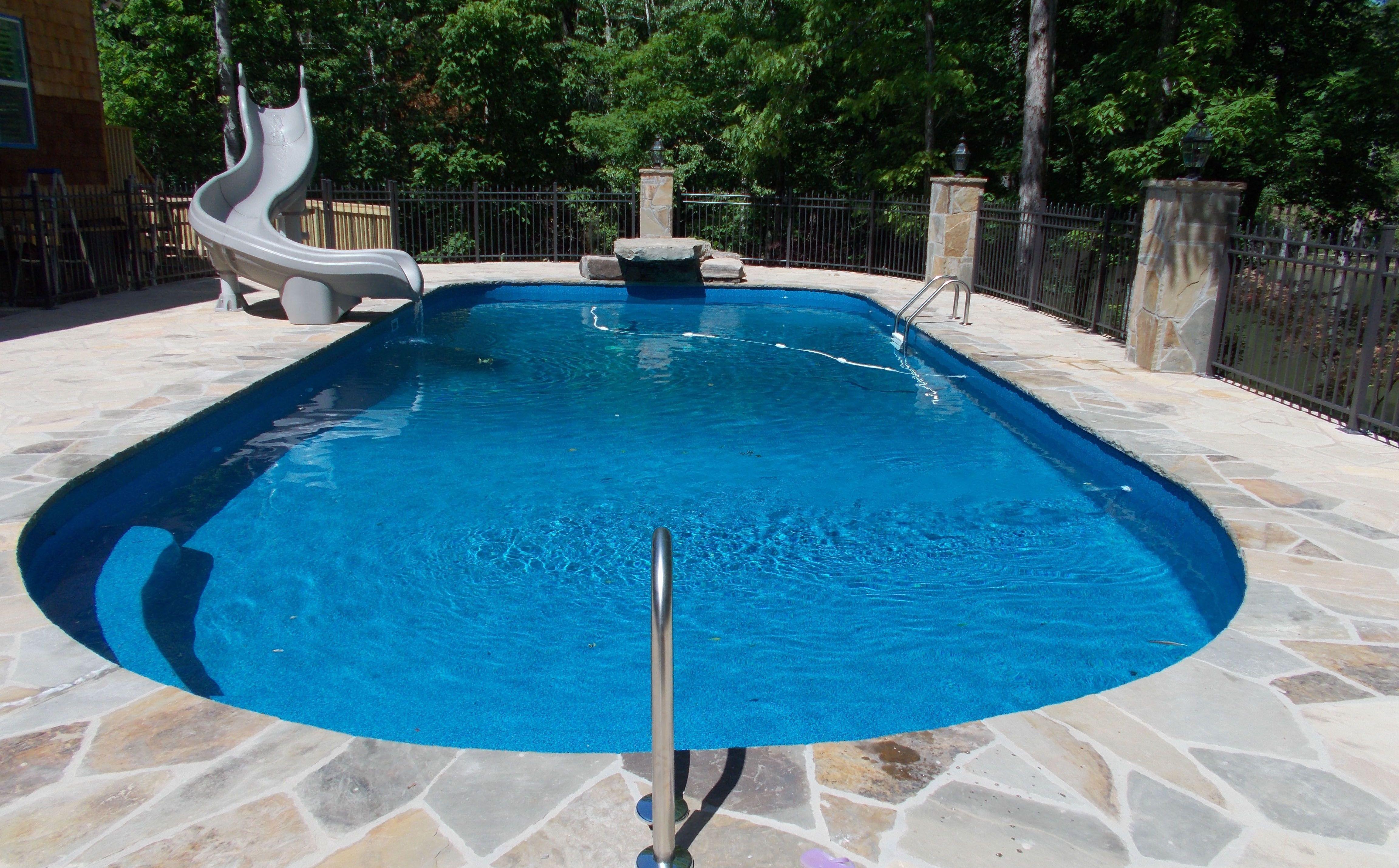 Vinyl Liner Pool 002 By Aquarius Pools Construction Pools Backyard Inground Vinyl Pools Inground Pool
