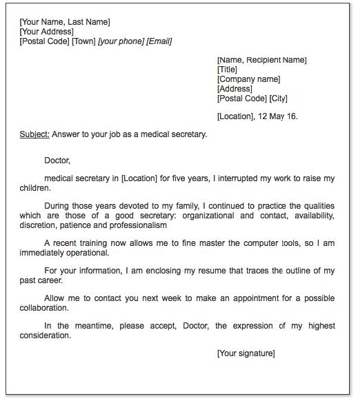 Medical Secretary Cover Letter Examples Resume Cv Cover Letter Sample Cover Letter Example Cover Letter