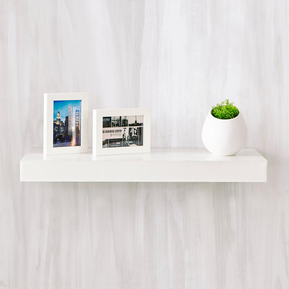 Way Basics Ravello 24 In X 2 In Zboard Paperboard Wall Shelf Decorative Floating Shelf In Natural White Fs 10 24 1 We Floating Shelves Wall Shelf Decor White Floating Shelves