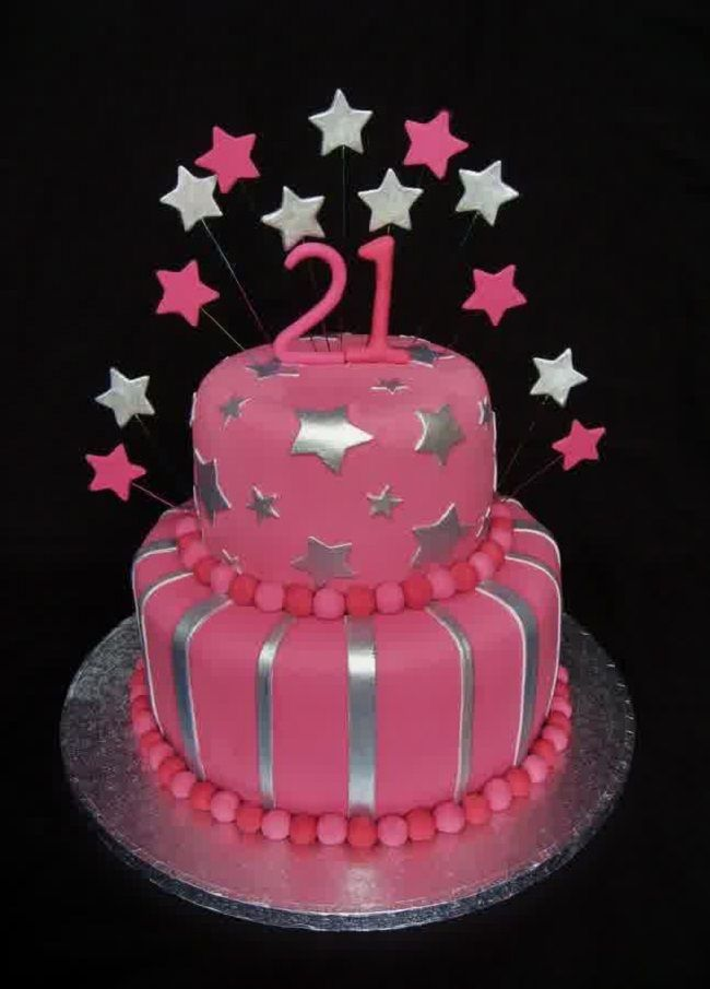 Latest Cake Design For Girl : 21st birthday cakes for girls New Cake Ideas 21st ...