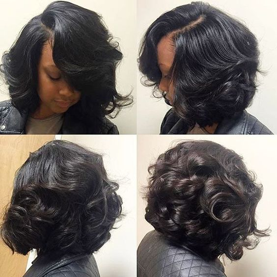 Bob Hairstyle Sew In Stylist Feature Love This #curlybob ✂️styled#charlottestylist