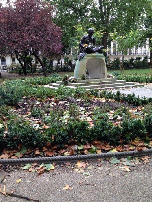 Gandhi statue in Tavistock Square London                                    Circus Mums   Cake and Gandhi
