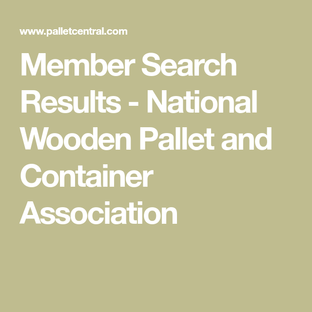 Member Search Results - National Wooden Pallet and ...