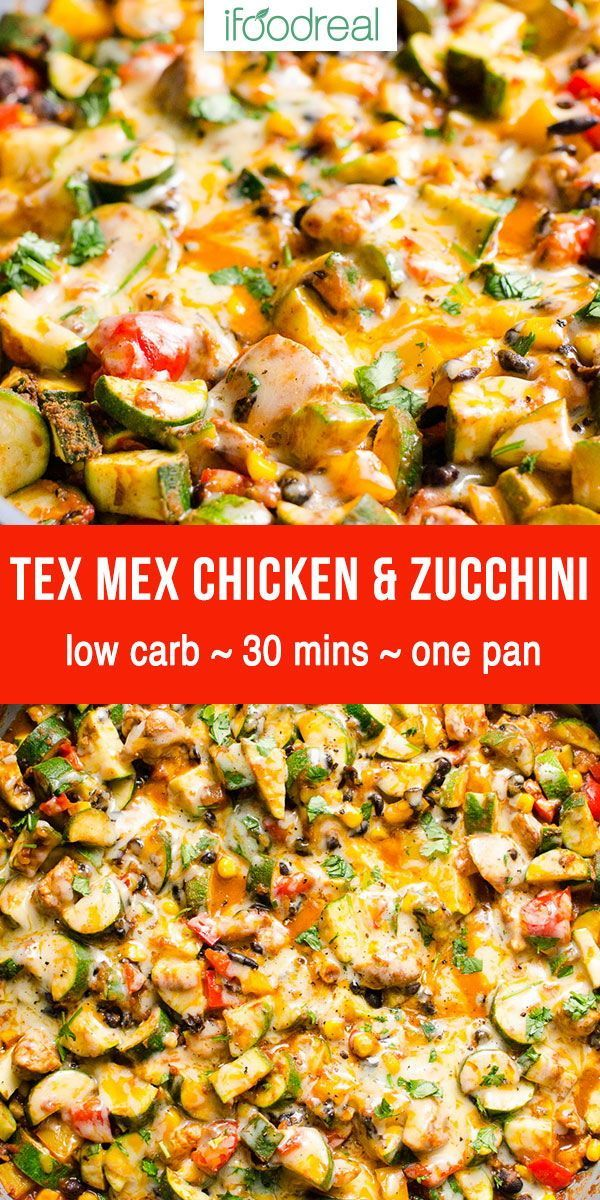 Low Carb Chicken and Zucchini - One Pan Dinner