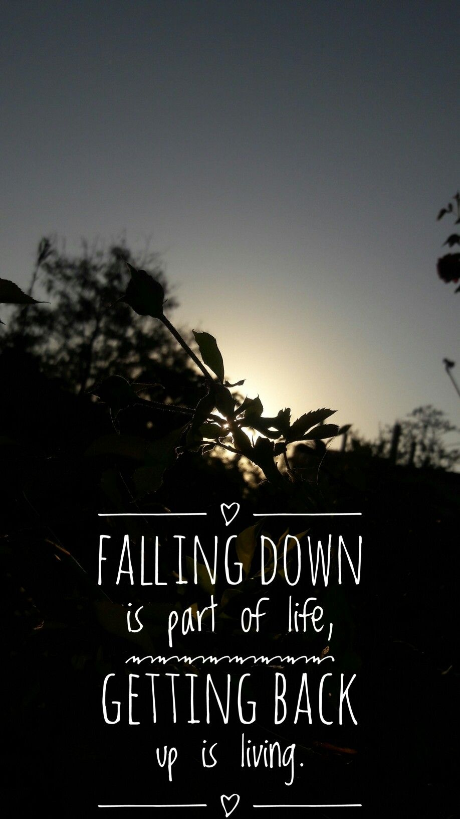 Falling Down Is Part Of Life Getting Back Up Is Living