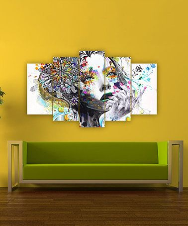 Look at this #zulilyfind! Floral Beauty Five-Panel Wall Art ...