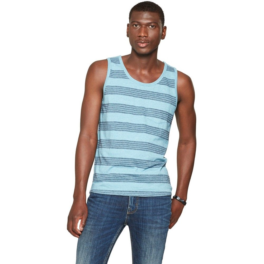b23294b79cf64 Stay the right temperature throughout the year with this men s Tank Top  from Goodfellow and Co. This solid-color tank top features a classic  sleeveless ...