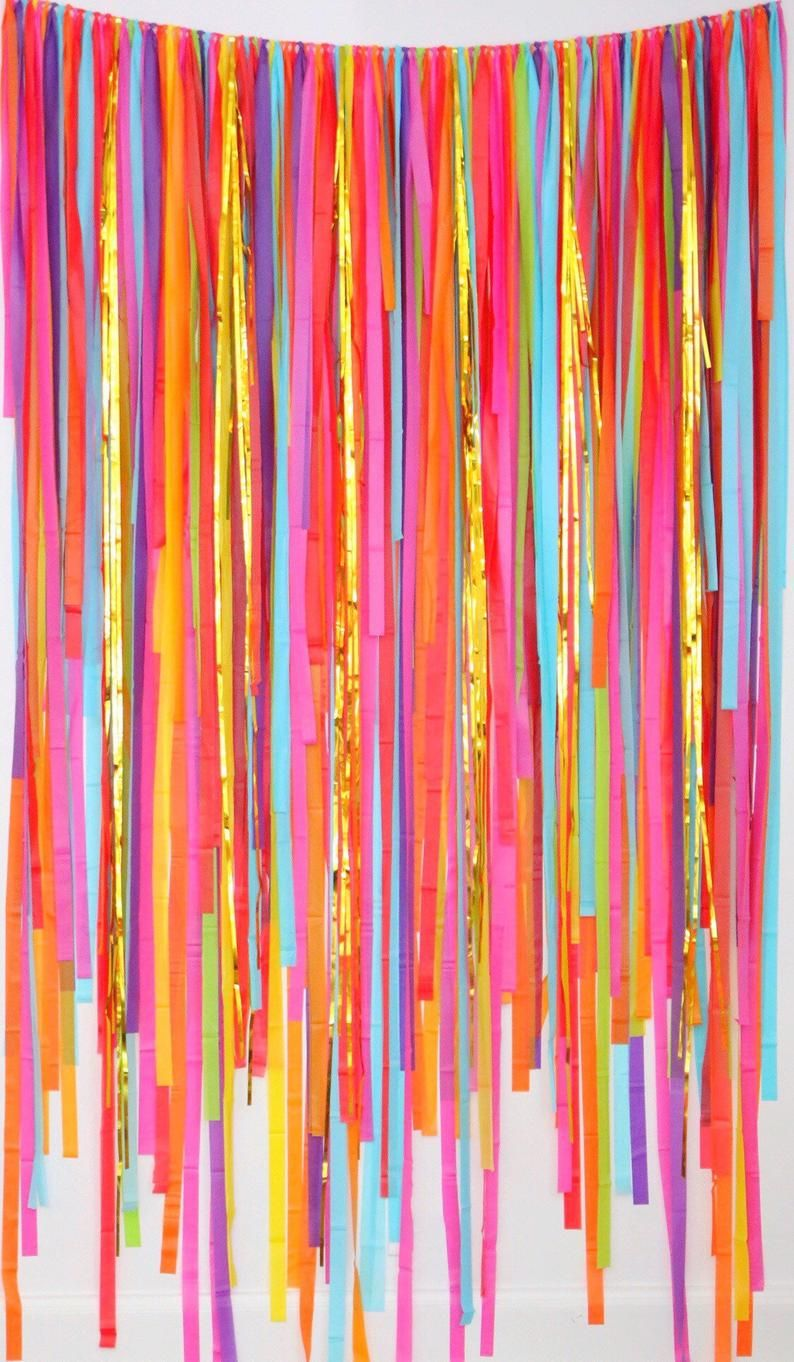 Fiesta Backdrop, Fiesta Decorations, Streamer Backdrop, Fringe Backdrop, Fiesta Party Decorations, Fiesta Bachelorette, Cinco de Mayo