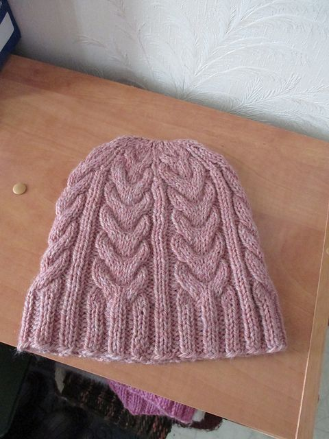 Cable Staghorn Whalebone Hat Beanie Toque pattern by Margaret MacInnis
