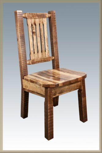 Rustic Dining Chairs Solid Pine Kitchen Chairs Homestead Amish Made Dining Rustic Dining