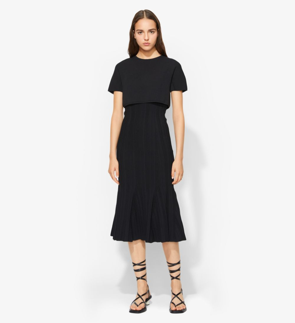 Proenza Schouler Plissé Knit Dress black S