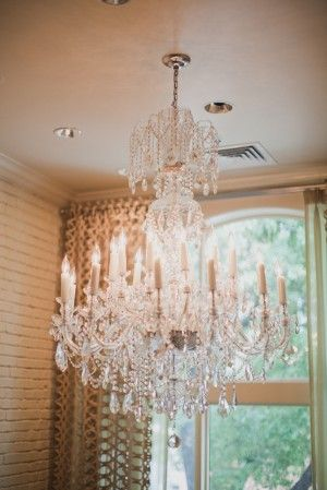 crystal chandeliers will provide the perfect glow
