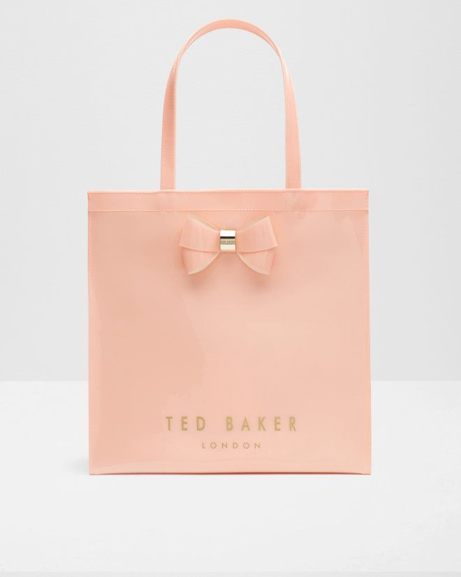 4637800e085 Bow detail large shopper bag - Peach | Bags | Ted Baker | Bags ...