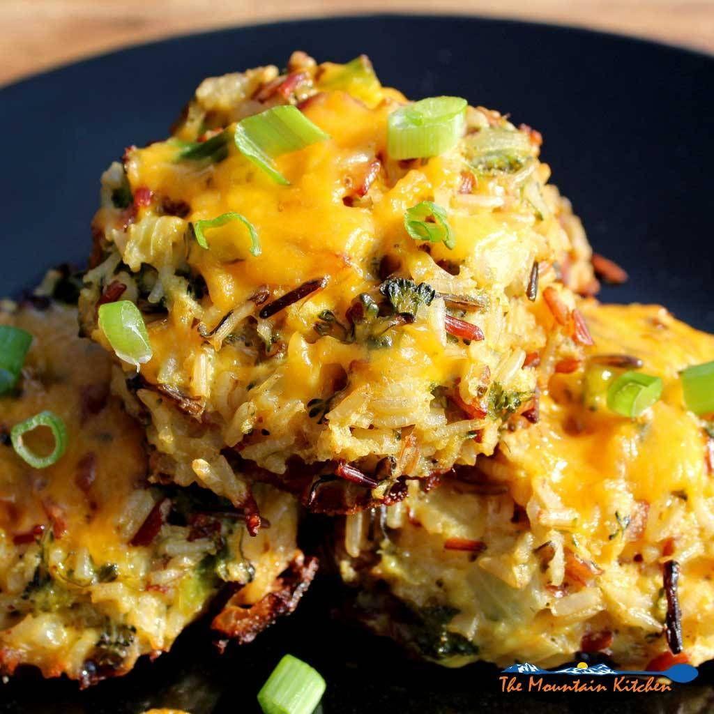 Broccoli cheddar wild rice cakes heatlhy recipes