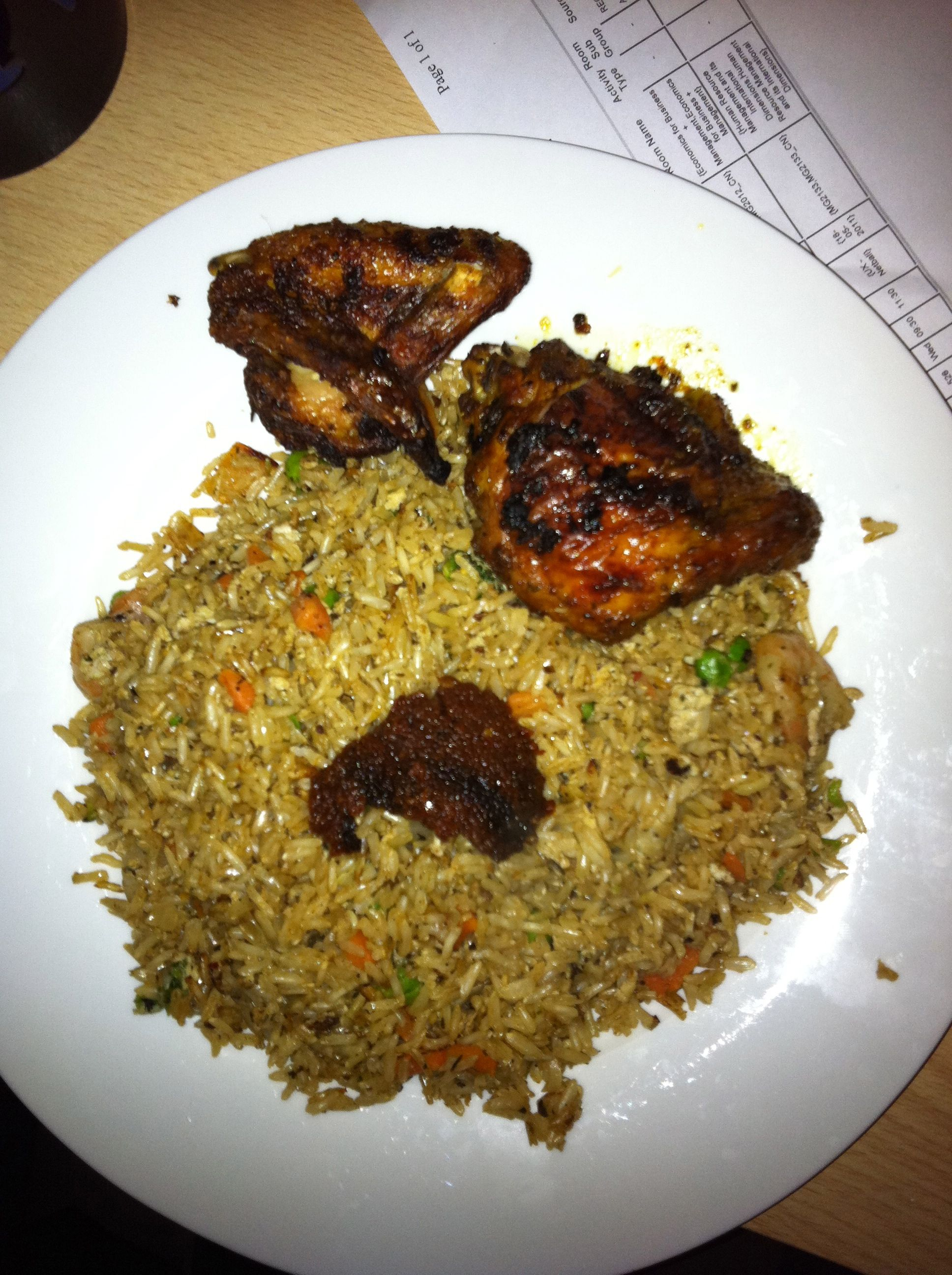 Grilled chicken with egg fried rice shito ghana style by abdul grilled chicken with egg fried rice shito ghana style by abdul basit mohammed ccuart Gallery