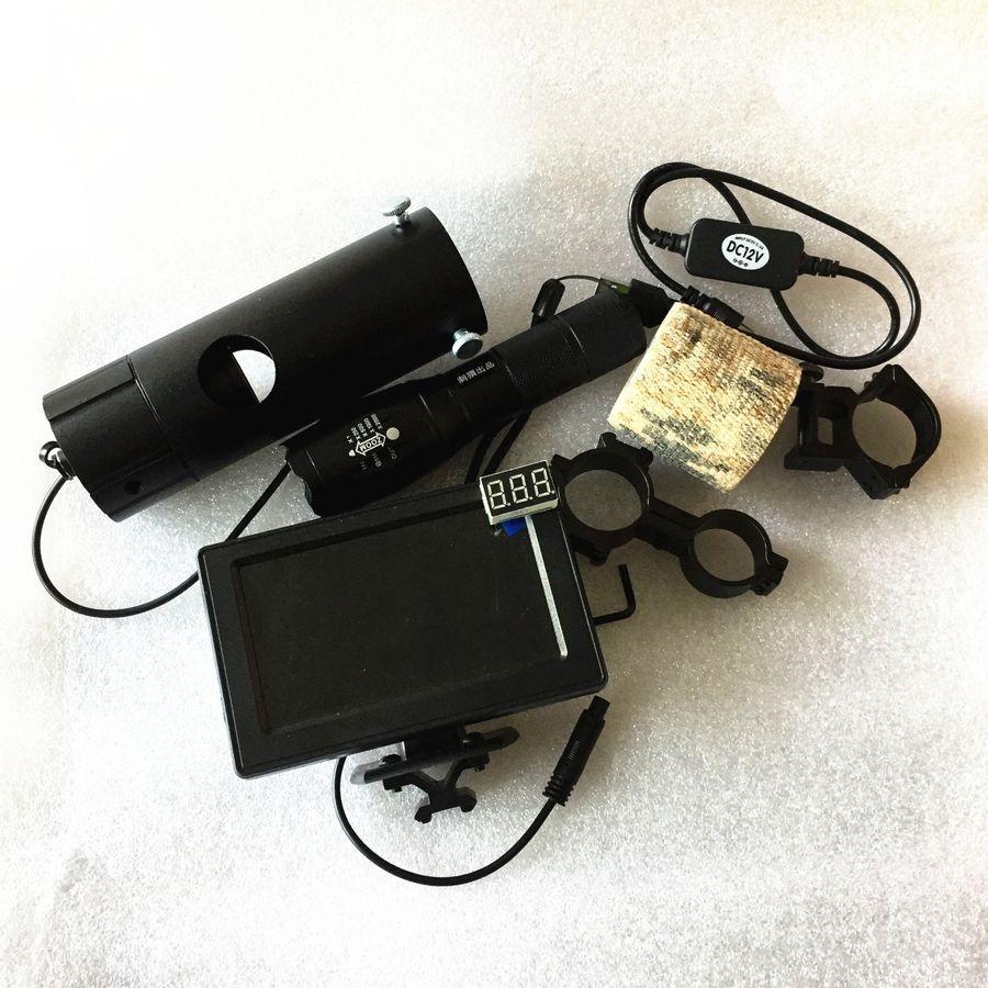 Riflescope Add On Diy Night Vision Scope Day Night Use With Screen Ir Torch Night Vision Diy Night Vision Ebay Torch