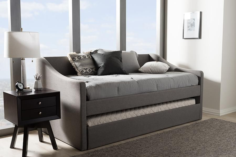 Awesome Barnstorm Grey Fabric Daybed Guest Trundle Bed Wl 0515 Wi In Beatyapartments Chair Design Images Beatyapartmentscom