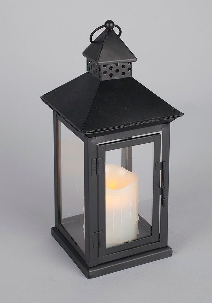 Led Metal Resin Battery Operated Flameless Candle Lantern W Timer Indoor Outdoor Black Square Lantern Battery Powered Candle Lanterns Lantern Candle Decor Outdoor Candles Candle Lanterns