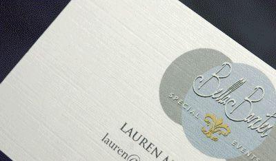 MorningPrint.   Heavy Linen Business Cards   Premium Paper