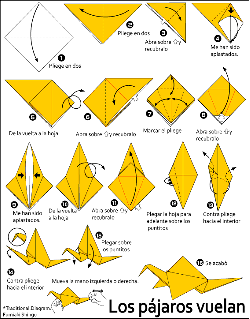 origami paso a paso grulla