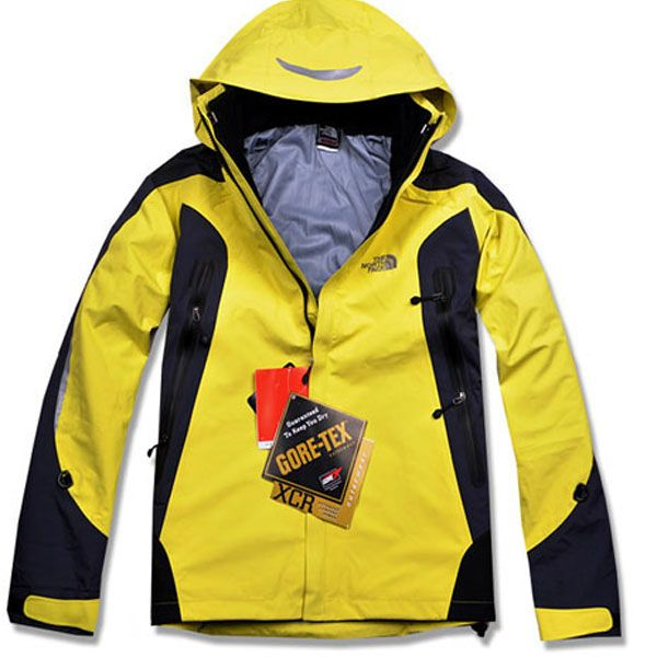 The North Face Women s Yellow Black Gore Tex Pro Jacket  6397f0193