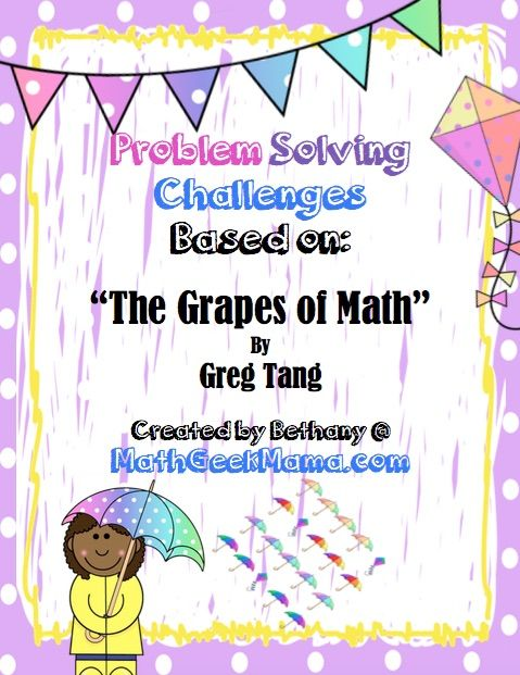 Problem solving pages based on the grapes of math math math free problem solving pages to use with the book the grapes of math by greg tang fun for ages 6 and up answer key included fandeluxe Images