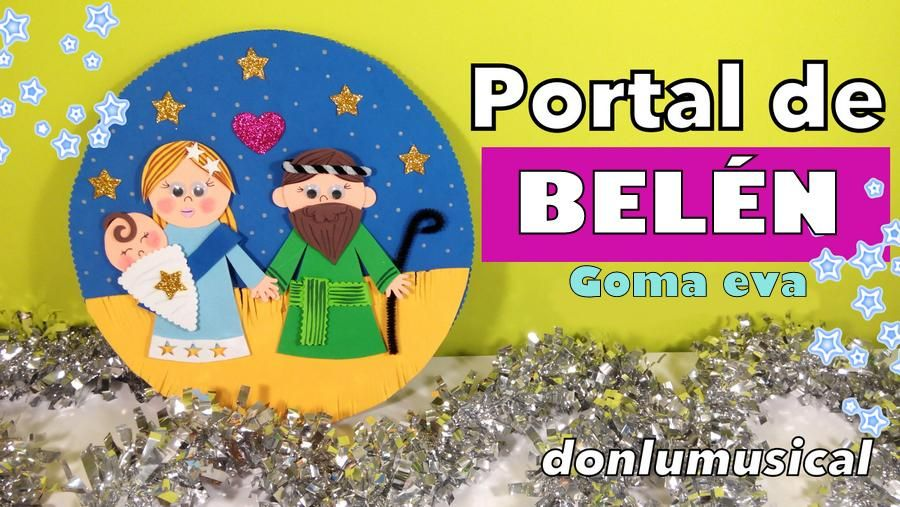 Portal De Belén Goma Eva Para Navidad Portal De Belén Goma Eva Belenes