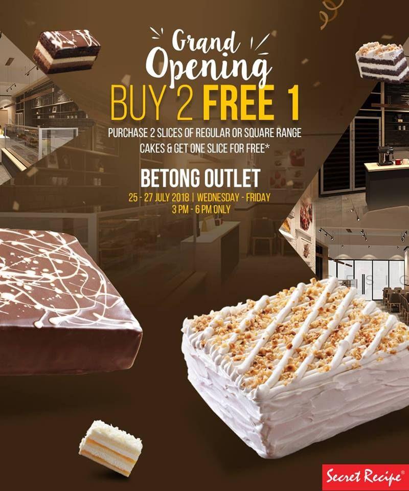 Opening Deal Buy 2 Free 1 Slice Cake Secret Recipe | Promotion
