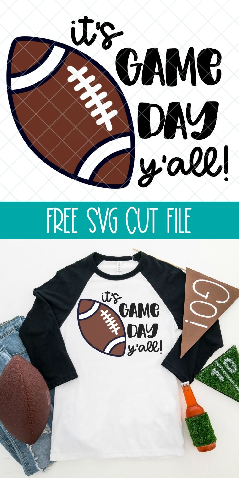 Download 14 Free Football SVGs Including It's Game Day Y'all in ...