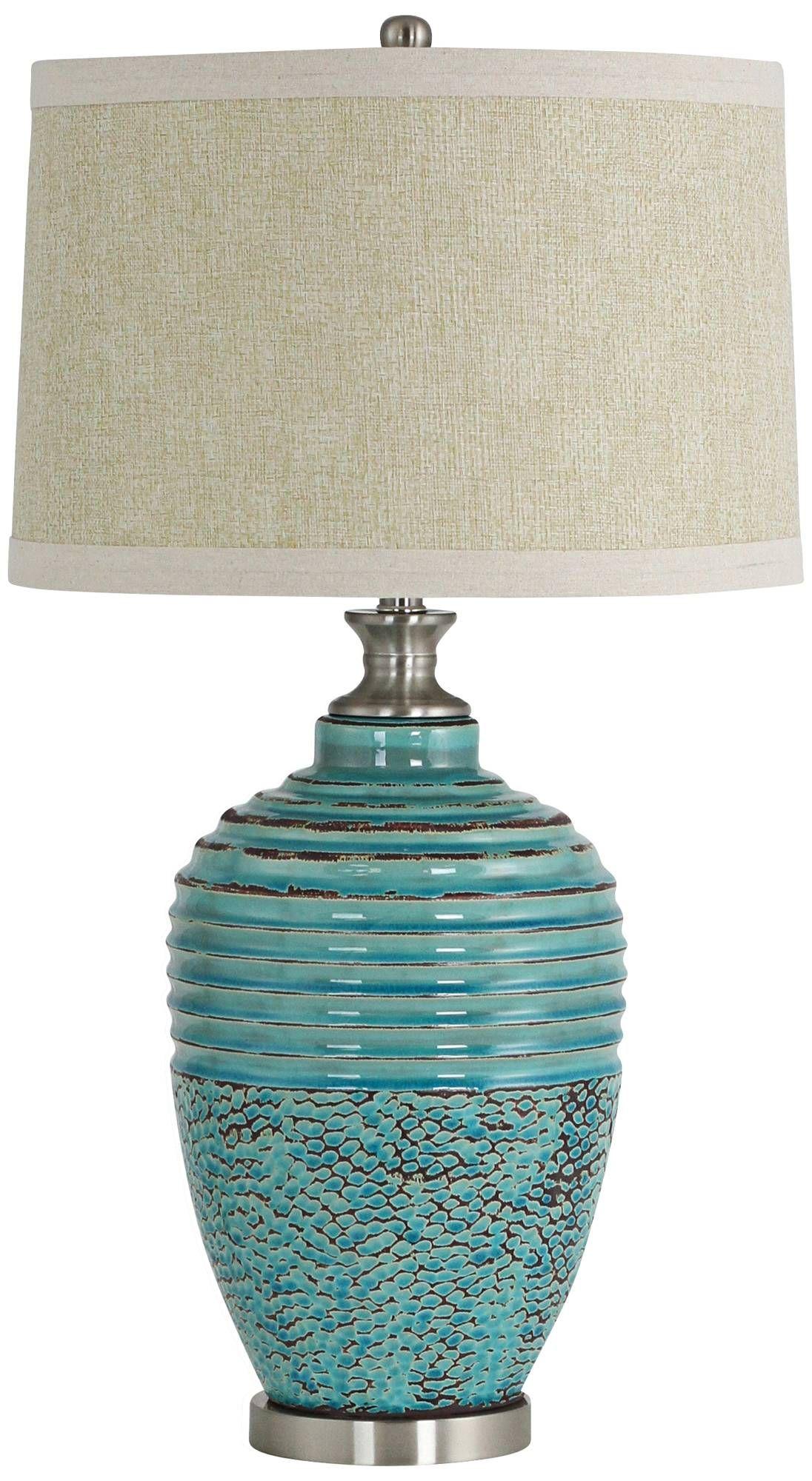 beta teal textured ceramic jug table lamp 9m134 lamps plus rh pinterest com