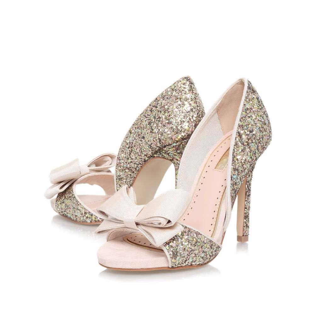 Georgina Silver High Heel Sandals By Miss KG | Kurt Geiger