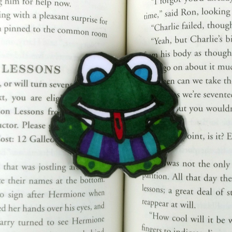 Froggie Magnet, Frog Magnet, Frog Refrigerator Magnet, Frog Kitchen Decor,  Inspirational Magnet