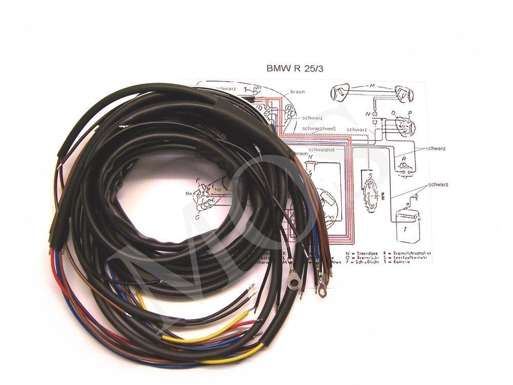 Details zu Kabelbaum BMW R 25/3 + farbiger Schaltplan | BMW