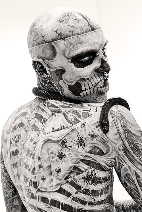 Rick Genest Zombie Boy Tattoos Rick Genest Zombie Boy Rick